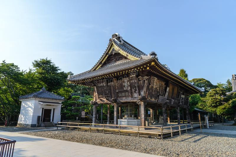Narita, Chiba, JAPAN - Juli, 2018: De tempel van narita-San Shinshoji heeft geschiedenis van meer dan 1000 jaar stock afbeeldingen