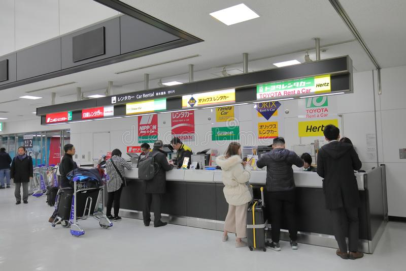 Narita för hyra för bilhyra flygplats Tokyo Japan royaltyfri foto
