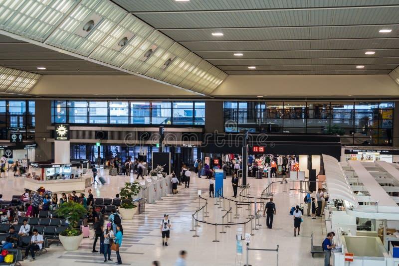 Narita Internationale Luchthaven, Tokyo, Japan, Vertrekterminal 2 royalty-vrije stock foto's