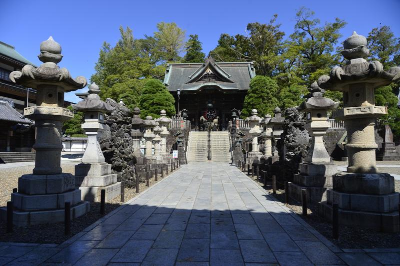 Entrance to Naritasan Shinshoji Temple in Narita city for Japanese people and foreign travelers travel visit and praying god royalty free stock images