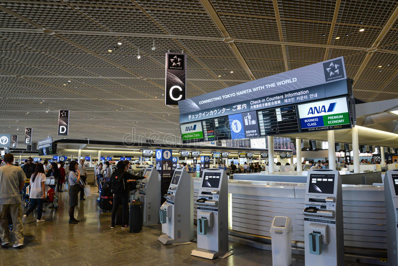 Narita luchthaven, Tokyo, Japan stock fotografie