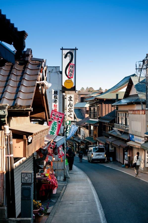 Narita Omotesando het winkelen straat, Narita, Chiba, Japan royalty-vrije stock foto