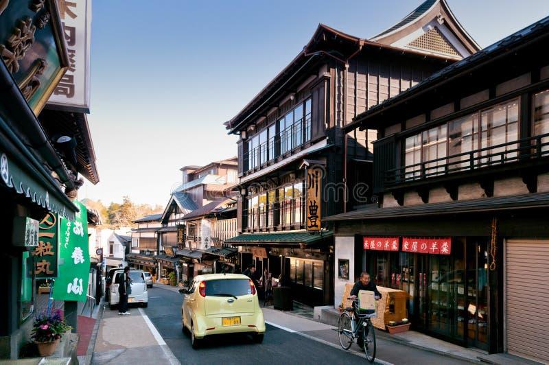 Narita Omotesando het winkelen straat, Narita, Chiba, Japan royalty-vrije stock afbeeldingen