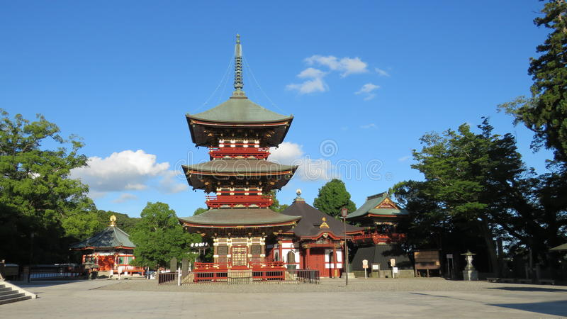 Naritasan Shinshoji寺庙塔在日本 图库摄影