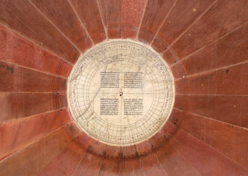 Narivalaya Yantra, ηλιακό ρολόι σε Jantar Mantar, αρχαίο παρατηρητήριο Jaipur στοκ φωτογραφίες