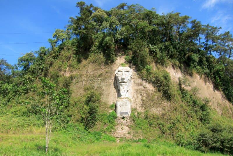 Nariz del Diablo sulla strada del litorale nell'Ecuador immagini stock