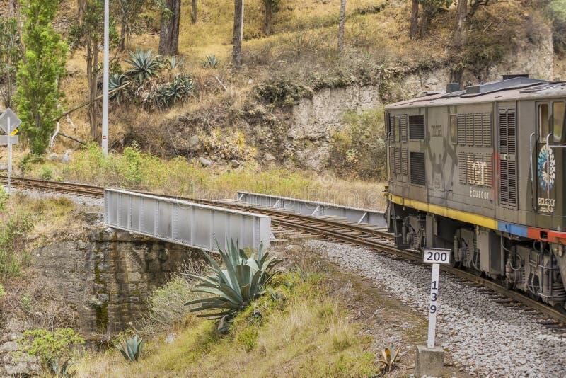 Nariz del Diablo Train ταξίδι Alausi Ισημερινός στοκ φωτογραφία
