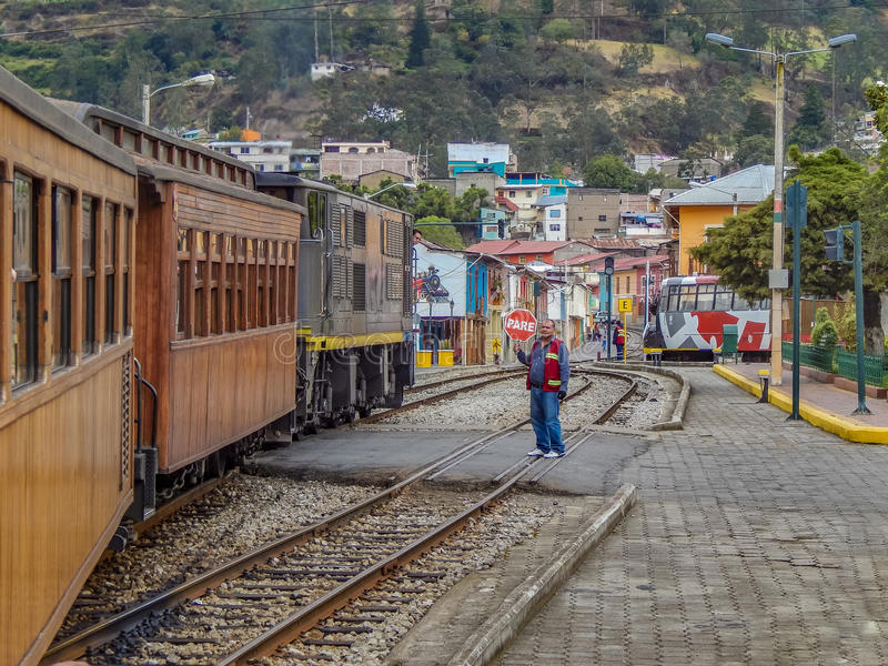 Nariz Del Diablo Trenujący przerwa Alausi Ekwador zdjęcie stock