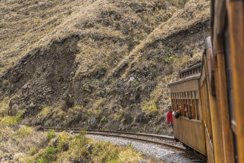 Nariz Del Diablo Trenujący wycieczka Alausi Ekwador zdjęcia royalty free
