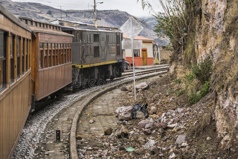 Nariz Del Diablo Trenujący wycieczka Alausi Ekwador zdjęcie royalty free
