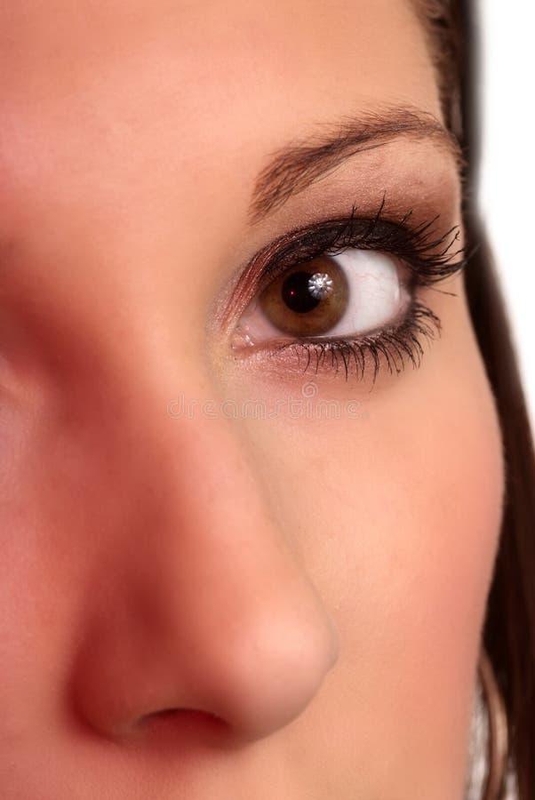 Nariz del ojo de la cara fotos de archivo