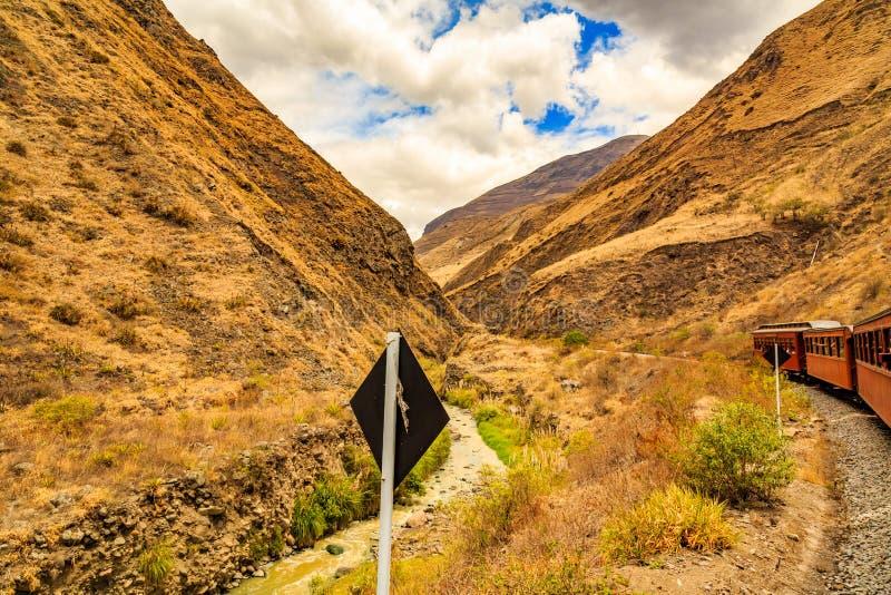 Nariz delDiablo ib Ekwador zdjęcia royalty free