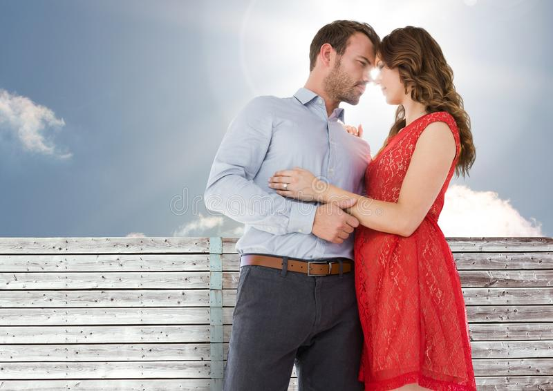 Nariz romântico da fricção dos pares fotos de stock