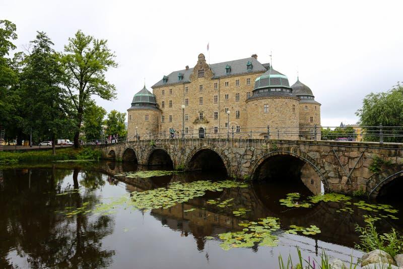 narke grodowy fortyfikacyjny średniowieczny orebro Sweden obrazy royalty free