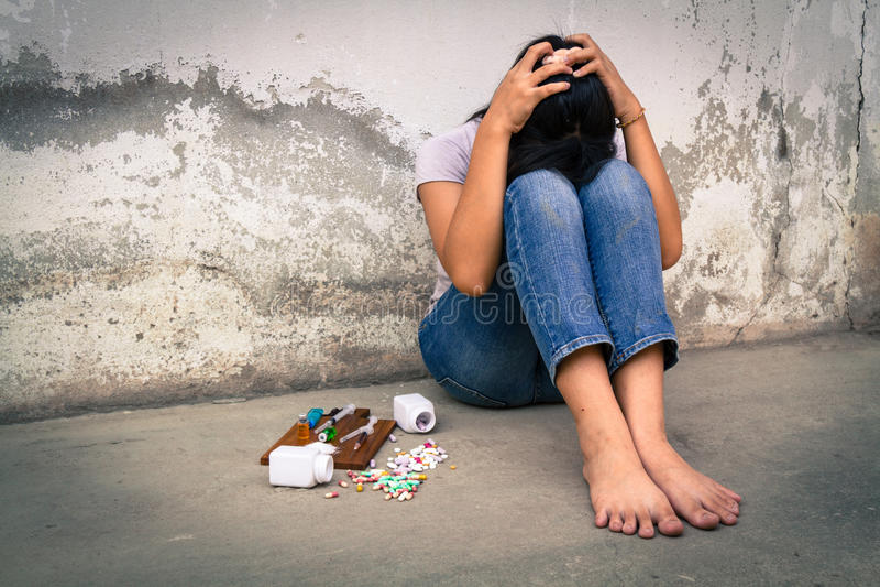 Narkomania w adolescenci obraz stock
