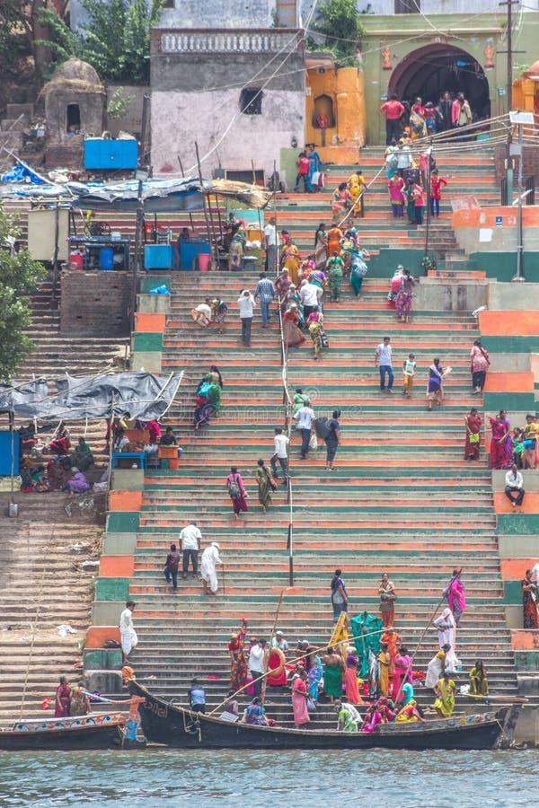 Narmada Ghat stockbild