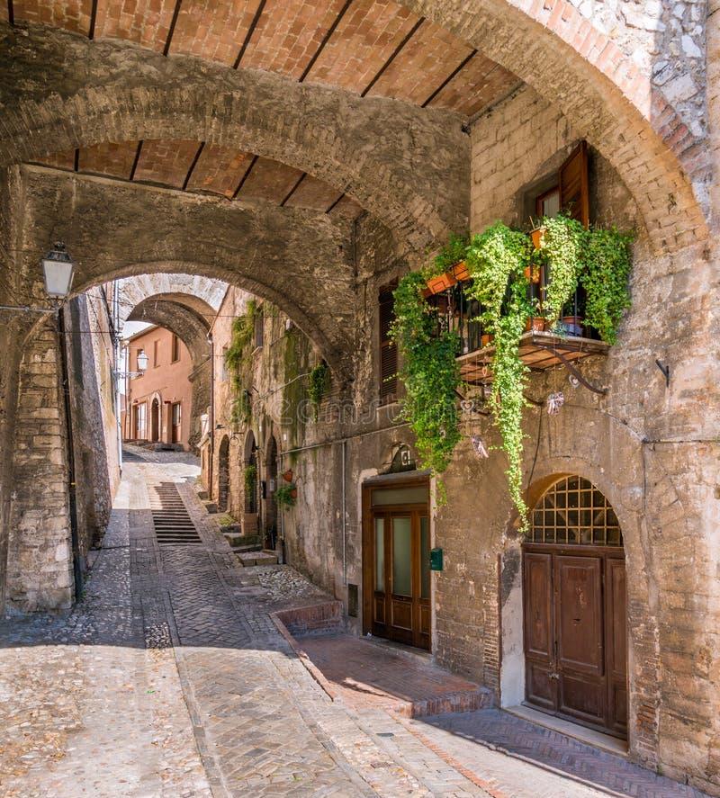 Narni, αρχαία πόλη στην επαρχία Terni Ουμβρία, κεντρική Ιταλία στοκ εικόνα
