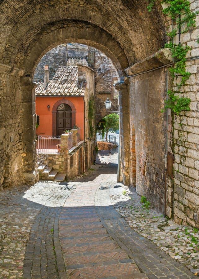 Narni, αρχαία πόλη στην επαρχία Terni Ουμβρία, κεντρική Ιταλία στοκ εικόνες