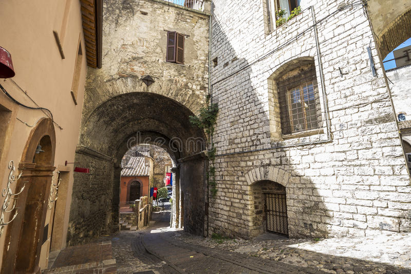 Narni, старая средневековая деревня в Умбрии, Италия стоковое изображение rf