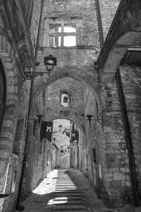 Narni Умбрия, Италия, исторический город стоковое фото