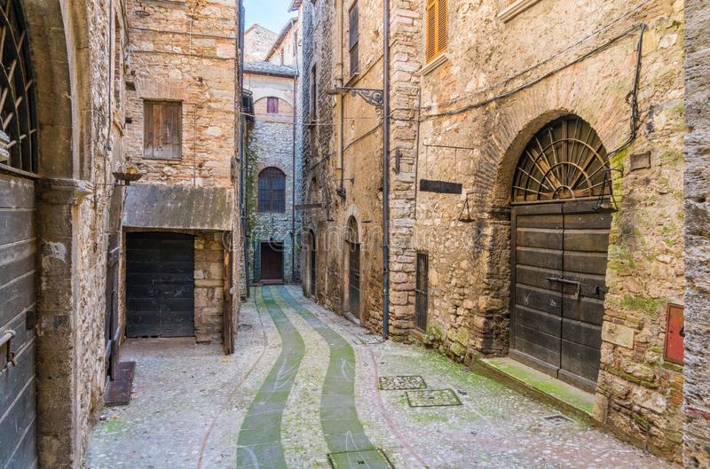 Narni, alte Stadt in der Provinz von Terni Umbrien, Mittel-Italien lizenzfreies stockfoto