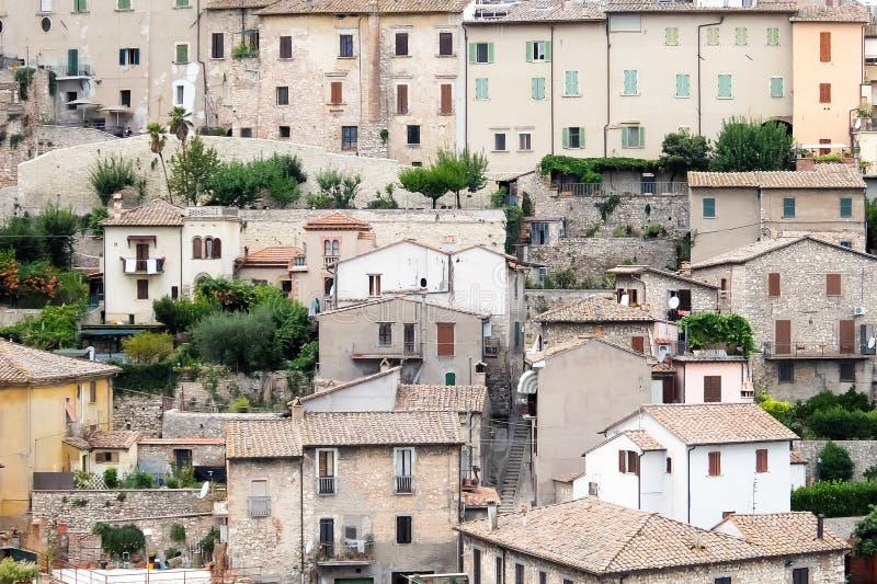 Narni, Italien Sch?ne Ansicht der historischen Mitte des kleinen alten hilltown Narni stockfotografie