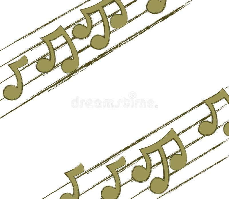 narożnikowe muzykalne notatki ilustracji