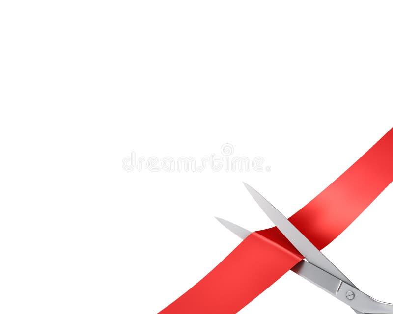 narożnikowego cięcia wielki tasiemkowy nożyc ekran fotografia royalty free