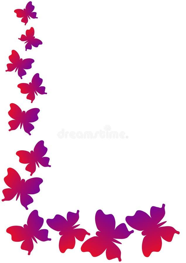 Narożnikowi Ramowi motyle ilustracji