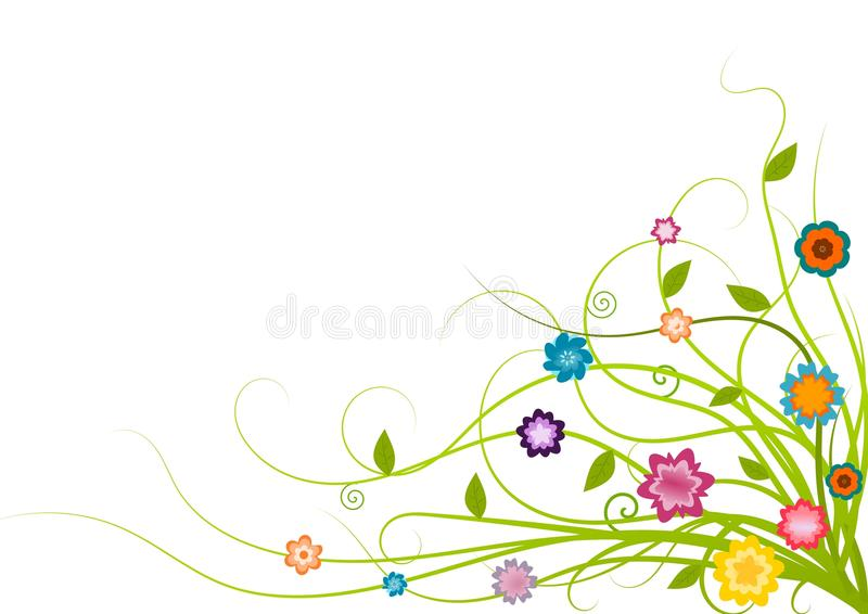 narożnikowy śliczny kwiecisty ilustracja wektor