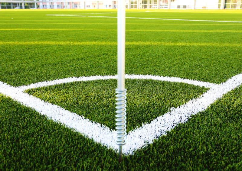 Narożnikowy boisko piłkarskie obraz royalty free