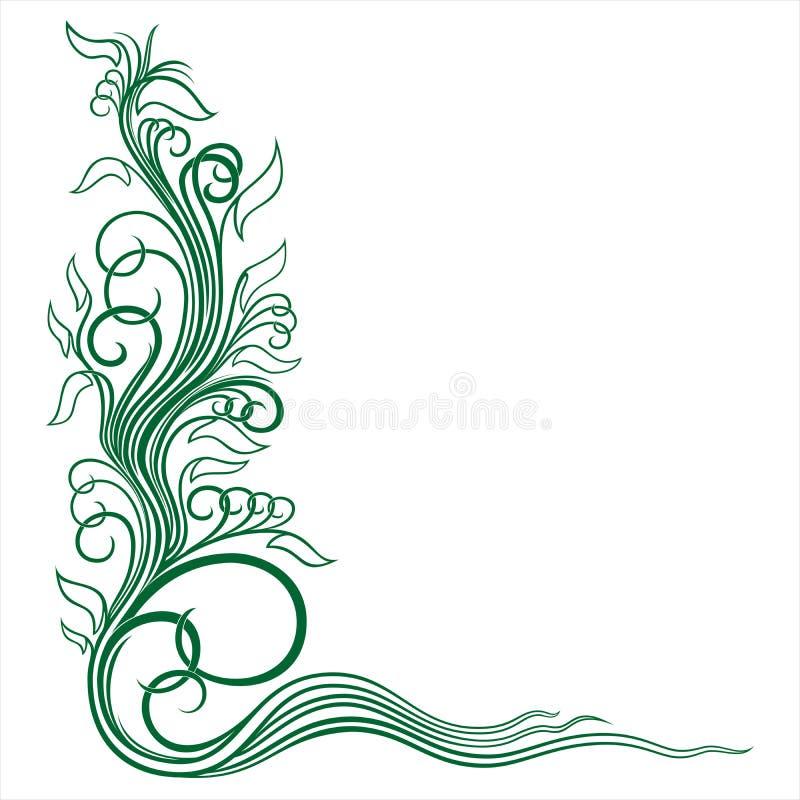 Narożnikowy kwiecisty ornament ilustracja wektor