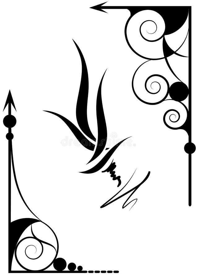 narożnikowy projekt ilustracji
