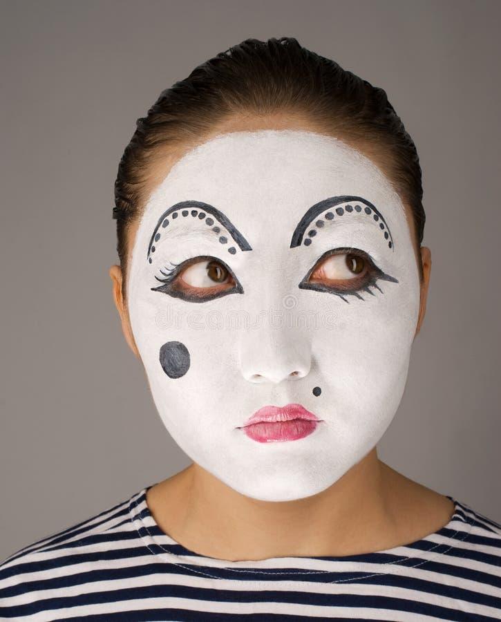 narożnikowy przyglądający mima portreta dobro target2442_0_ zdjęcia stock