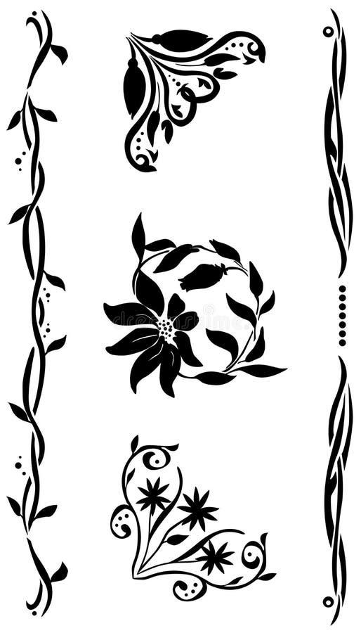 narożnikowy renaissance setu styl ilustracji