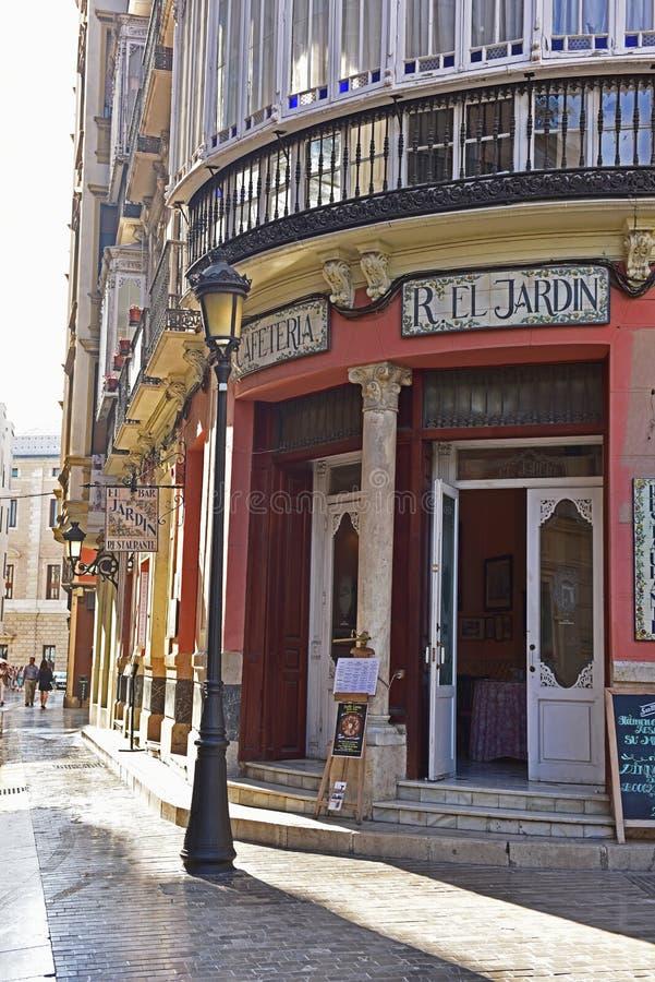 Narożnikowy sklep na Malaga zdjęcia royalty free