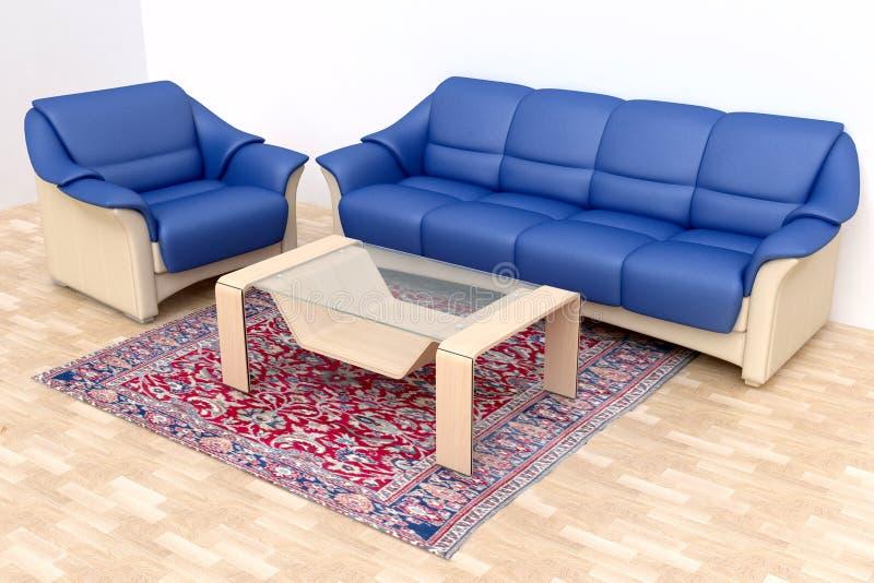 narożnikowy wewnętrzny żywy pokój ilustracji