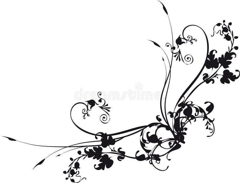 narożny kwiatek ilustracji