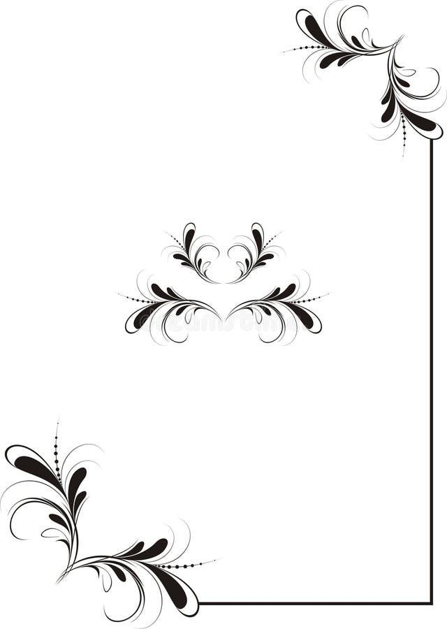 narożny ornament royalty ilustracja