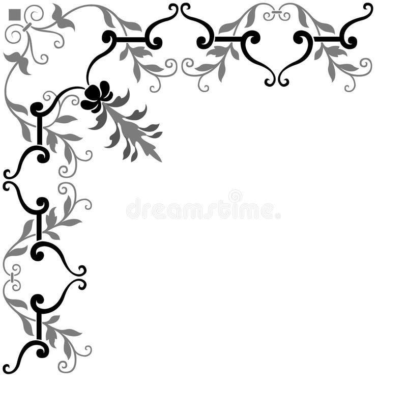 narożny ramowy ozdobny royalty ilustracja