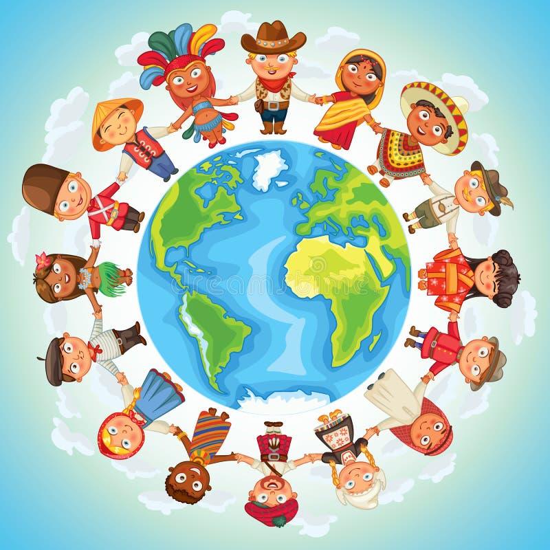 narodowości royalty ilustracja