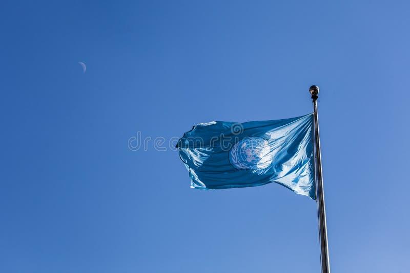 Narody Zjednoczone flaga zdjęcia stock