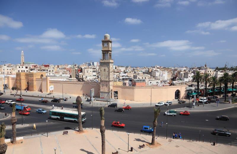 Narody Zjednoczone kwadrat w Casablanca obraz royalty free