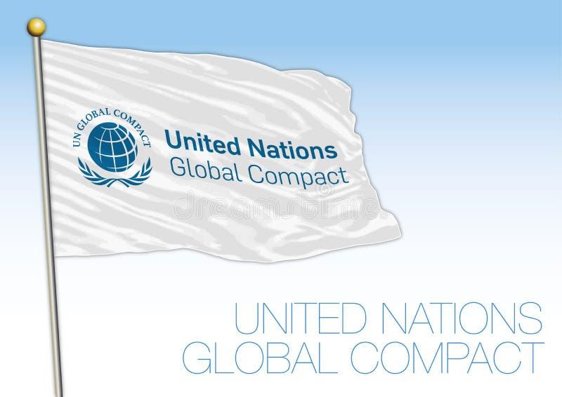 Narody Zjednoczone układu Globalna flaga i symbol royalty ilustracja
