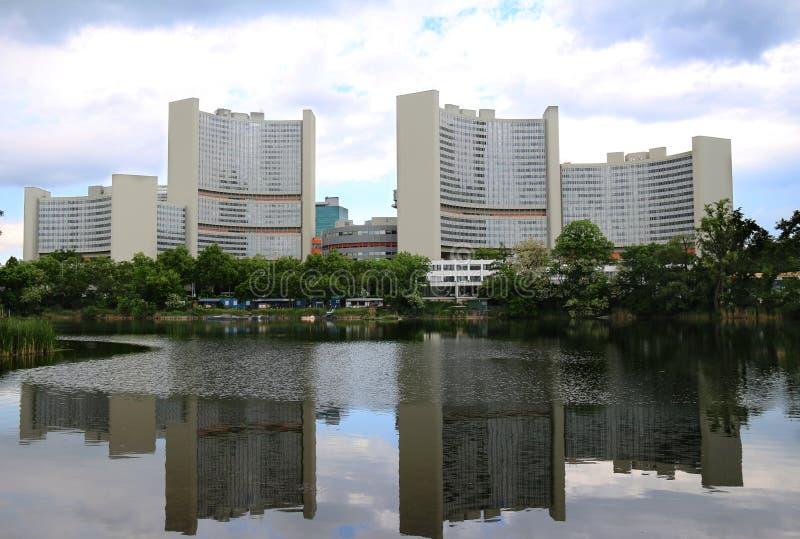 Narody Zjednoczone zawody międzynarodowi centrum w Wiedeń zdjęcie stock