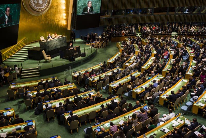 Narody Zjednoczone zgromadzenie ogólne w Nowy Jork fotografia royalty free