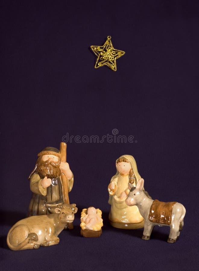 narodzenie jezusa śliczna scena obraz royalty free
