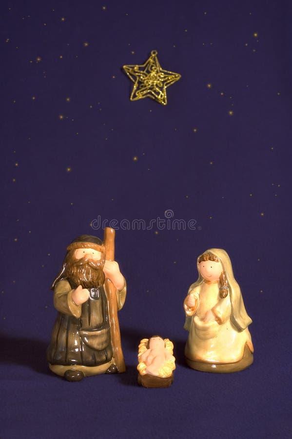 narodzenie jezusa śliczna scena obraz stock