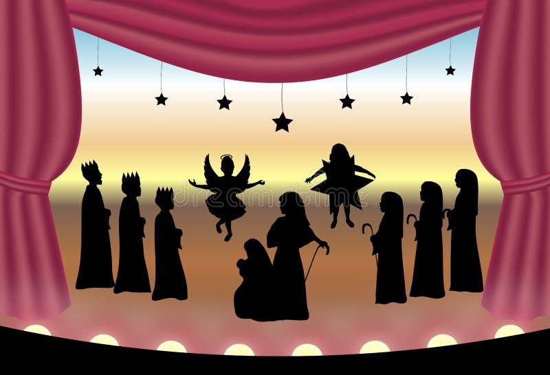 narodzenie jezusa, royalty ilustracja