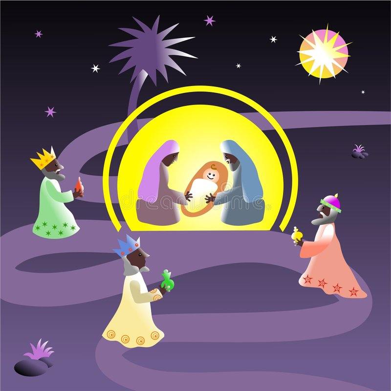 narodzenie jezusa ilustracja wektor